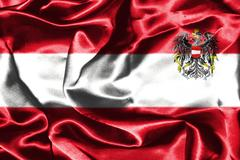 Austrian National Flag With Coat Of Arms Stock Illustration