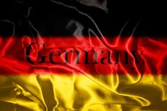 German flag blowing in the wind Stock Illustration