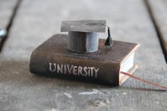 University Degree Concept, vintage style Stock Photos