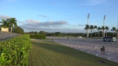 Plaza de la Revolucion (Revolution square). Santa Clara, Cuba Stock Footage