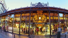 The San Miguel market in Madrid Stock Footage
