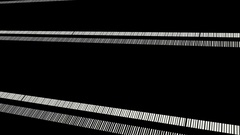 Black And White Club Stripes Vj Loop Stock Footage