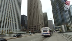 Chicago Columbus Drive Steady Cam Stock Footage
