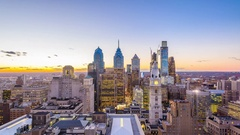 Philadelphia, Pennsylvania,  Skyline Time Lapse Stock Footage