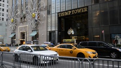 POst election, Trump Tower on 5th Avenue is bustling with activity Stock Footage