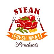 Fresh meat steak vector icon Piirros