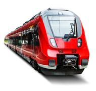 Modern high speed train isolated on white Stock Illustration
