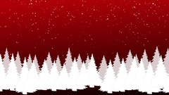 Christmas tree theme with snow falling. Stock Footage