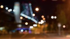 Time-lapse of the Benjamin Franklin Bridge in Philadelphia Stock Footage