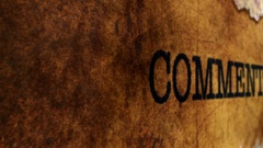 Camera slide on comment grunge text Stock Footage