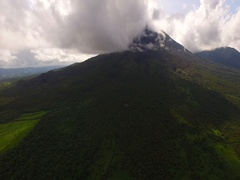 Aerial Shot of Arenal Volcano in Costa Rica Stock Footage