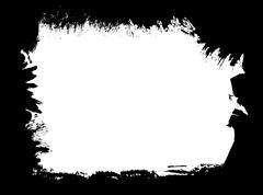 Paint brush grunge border frame Stock Illustration