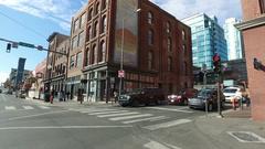 Nashville Driving Broadway Honky Tonks Stock Footage
