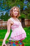 Beautiful expecting mother Stock Photos