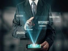 Social Media Internet Marketing Sharing Business Network Communication Stock Footage