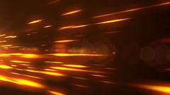 Orange glowing lights abstract black background Stock Footage