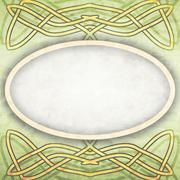 Old paper with celtic pattern Stock Illustration