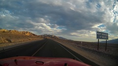 Driving in Death Valley Stock Footage