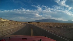 Driving in Death Valley at Sunset Stock Footage