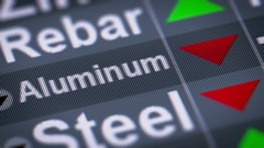 Aluminum. Down. Looping. Stock Footage