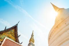 Stupas at Wat Intharawihan temple, Bangkok Stock Photos