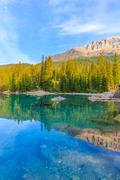 Moraine Lake, Canadian Rockies Stock Photos
