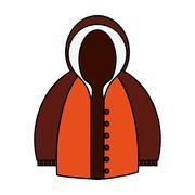 Isolated jacket of winter design Stock Illustration