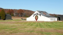 Jim Beam Barn Distillery Bourbon Kentucky Stock Footage