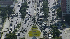 Traffic on the streets of Rio De Janeiro Stock Footage