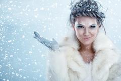 Beautiful winter woman Stock Photos