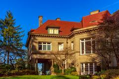 Portland Pittock Mansion Stock Photos