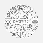 Poker round illustration Stock Illustration