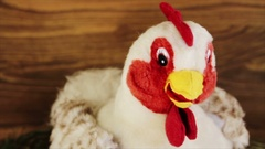 Stuffed toy rooster Stock Footage