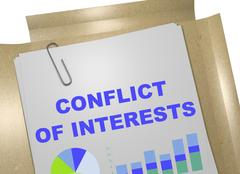 Conflict of Interests concept Stock Illustration