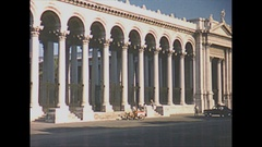 Vintage 16mm film, 1953 Italy, tourists sites b-roll Stock Footage