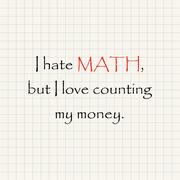 I hate Math - funny mathematical inscription template Stock Illustration