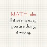 Math rule - funny inscription template Stock Illustration