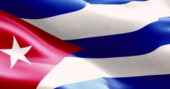 Waving fabric texture of the flag of cuba Stock Footage