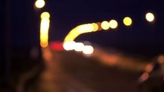 Glowing Lights of Road Bridge Traffic Stock Footage