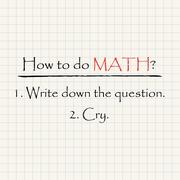 How to do Math - funny mathematical inscription template Piirros