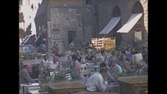 Vintage 16mm film, 1953 Italy, Florence streetlife Stock Footage