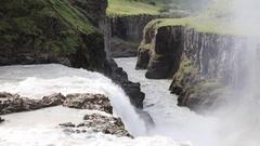 Gullfoss waterfall - Iceland - Detail Stock Footage