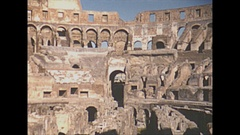 Vintage 16mm film, 1953 Italy, Rome the colesium, sequence Stock Footage