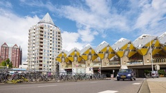 ROTTERDAM Netherlands -  Cube houses designed by Piet Blom Stock Footage
