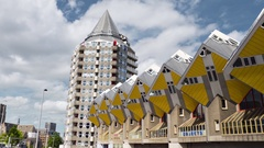 ROTTERDAM Netherlands -Cube houses designed by Piet Blom Stock Footage