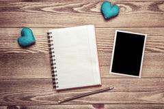 Writing love message Stock Photos