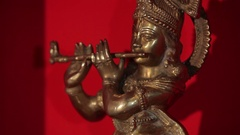 Beautiful indian statuette Stock Footage