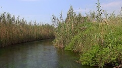 Azmak River in the town Akyaka Stock Footage