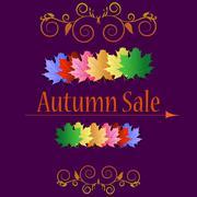 Autumn sale banners Stock Illustration
