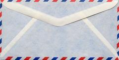 Vintage envelope airmail Stock Photos